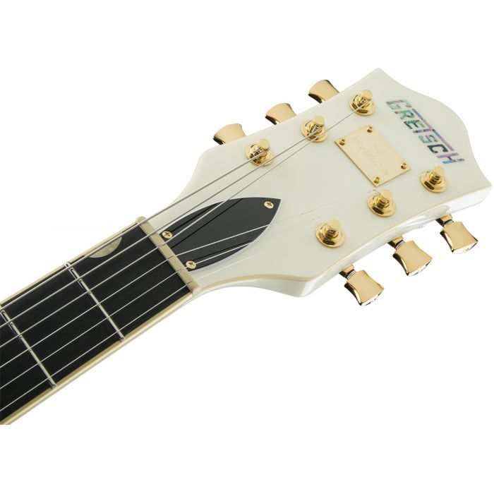 Gretsch G6609TG Players Edition Broadkaster Center Block Bigsby, Vintage White Headstock