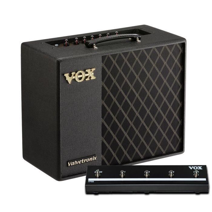 Vox VT40X Guitar Amplifier Combo Bundle with VFS5 Footswitch