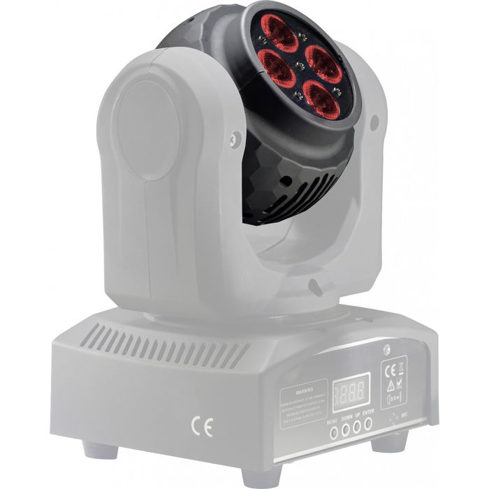 Stagg RGBW LED HeadBanger Spin Moving Head Light An Angle