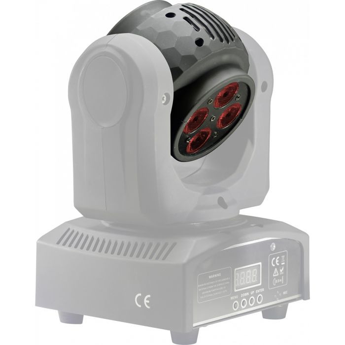 Stagg RGBW LED HeadBanger Spin Moving Head Light One More Angle
