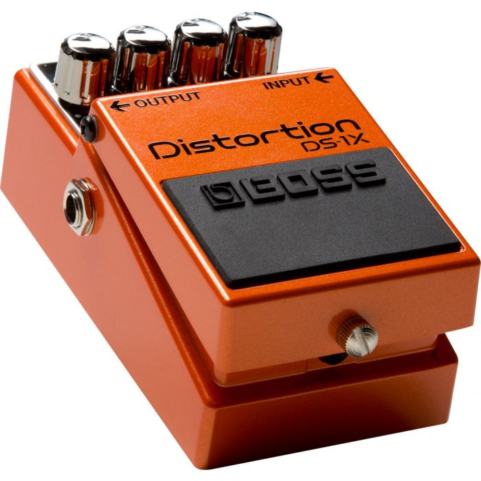 Boss DS-1X Compact Distortion Guitar Pedal Left Angle