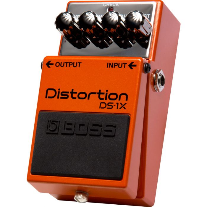 Boss DS-1X Compact Distortion Guitar Pedal Right Angle