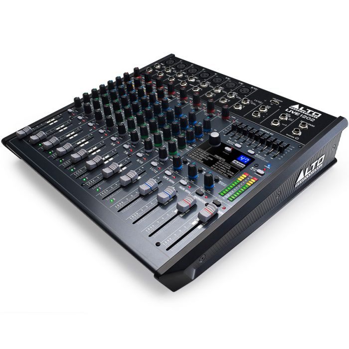 Alto Live 1202 12 Channel USB Mixing Desk Angle