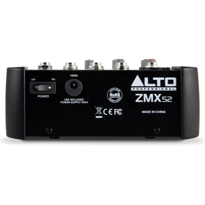 Alto Zephyr ZMX52 5 Channel Mixing Desk Rear