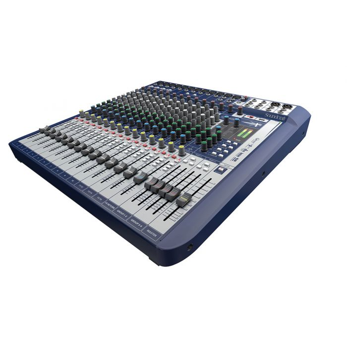 Soundcraft Signature 16 Analogue Mixer Angle