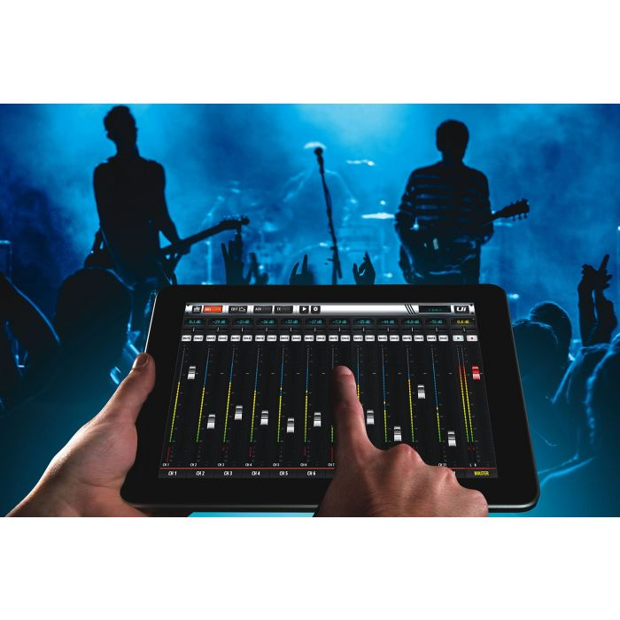 SoundCraft Ui12 Digital Mixer Controlled by iPad