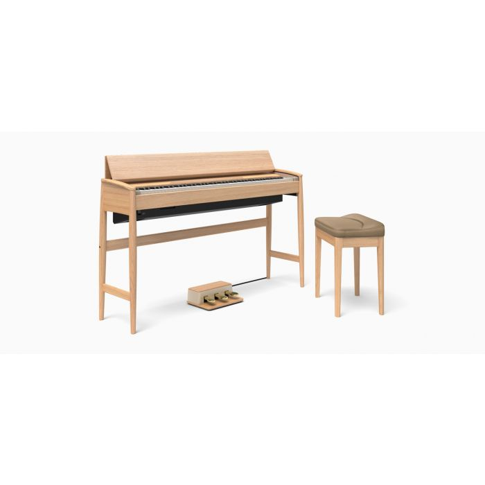 Roland Kiyola KF-10 Digital Piano with Stool Pure Oak