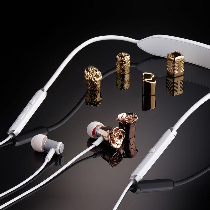 V-MODA Forza Metallo Wireless Earphones - White Silver with Optional 3D Custom Caps