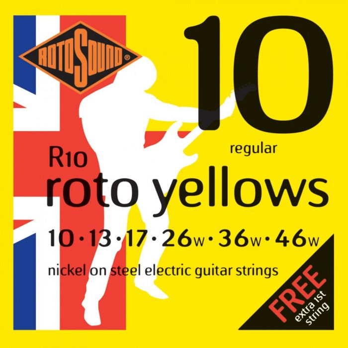 Rotosound R10 Roto Yellows Electric Guitar Strings 10-46
