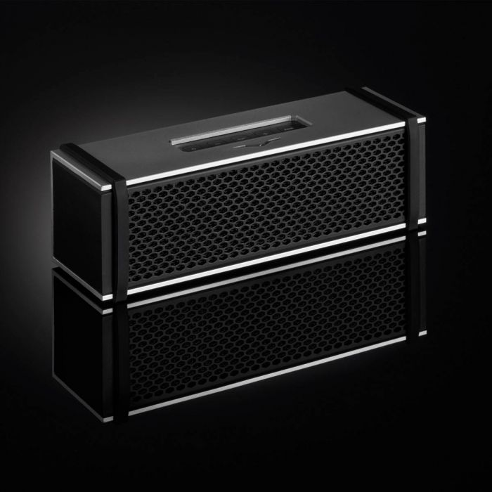 V-MODA REMIX Wireless Bluetooth Speaker - Silver in Black Room
