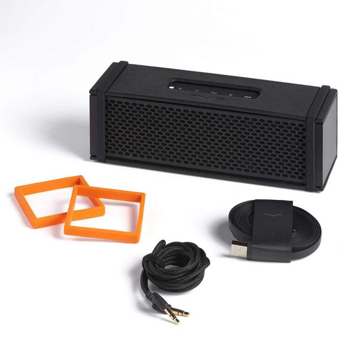 V-MODA REMIX Wireless Bluetooth Speaker - Black with Included Accessories