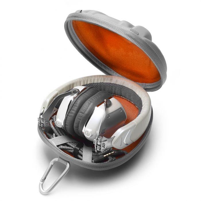 V-MODA XS-30 Headphones - White Silver In Case