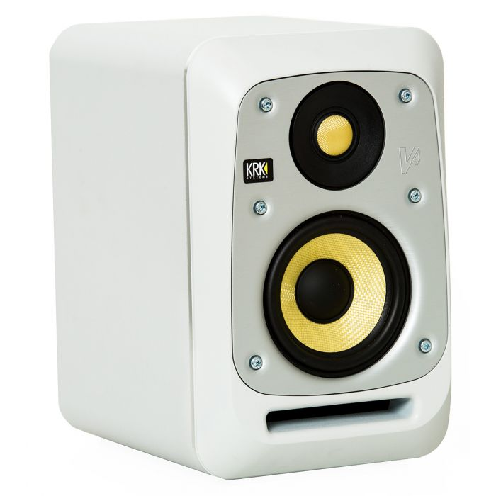 KRK Series 4 V4 Active Studio Monitor White Noise Angle