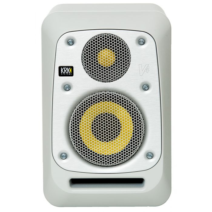 KRK Series 4 V4 Active Studio Monitor White Noise with Removable Grill