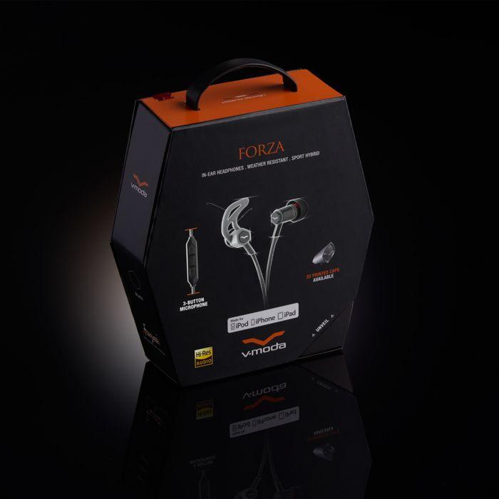 V-MODA Forza In-Ear Sports Headphones - Black Packaging