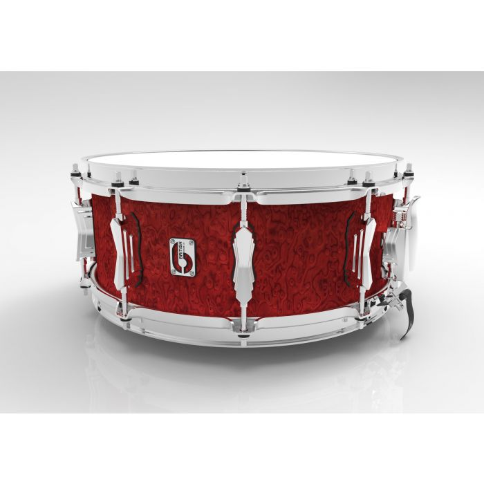 British Drum Co. 14 x 6.5 Legend Snare Drum in Buckingham Scarlett