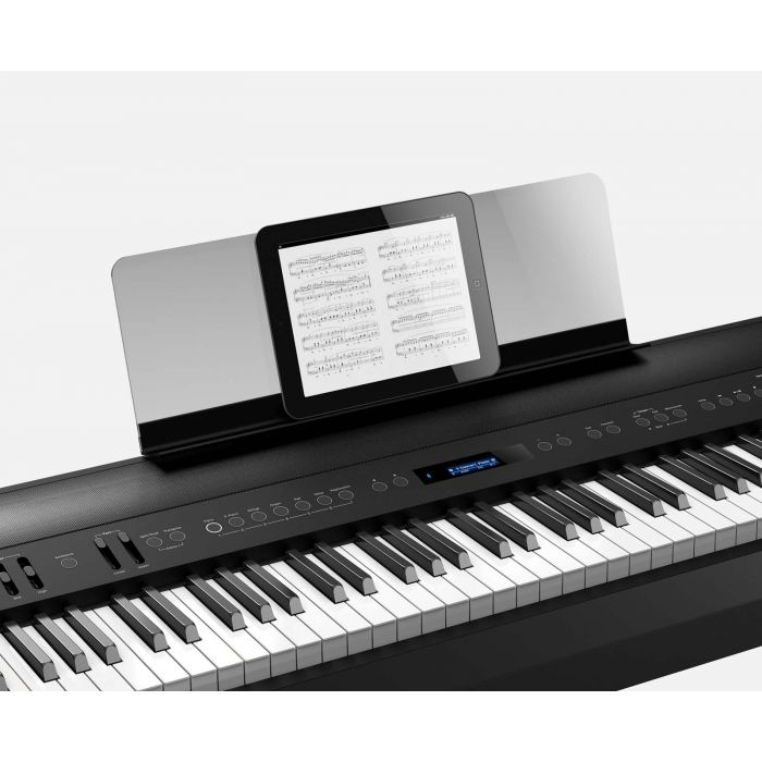 Roland FP-90 Digital Piano in Black with Stand and iPad