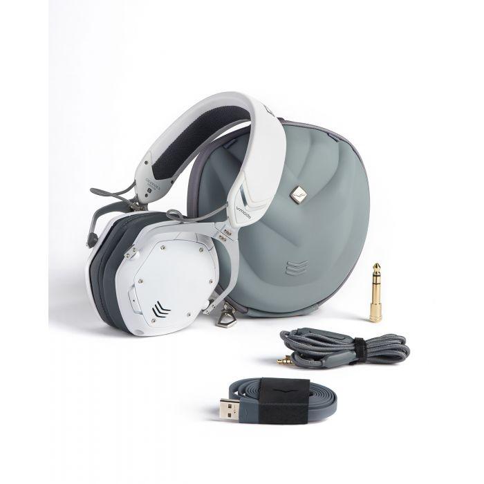 V-MODA Crossfade 2 Wireless Headphones - Matt White with Accessories