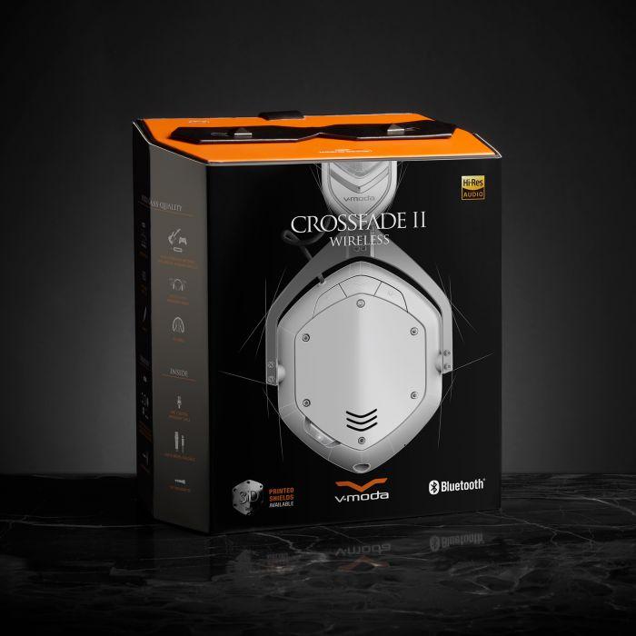 V-MODA Crossfade 2 Wireless Headphones - Matt White Packaging