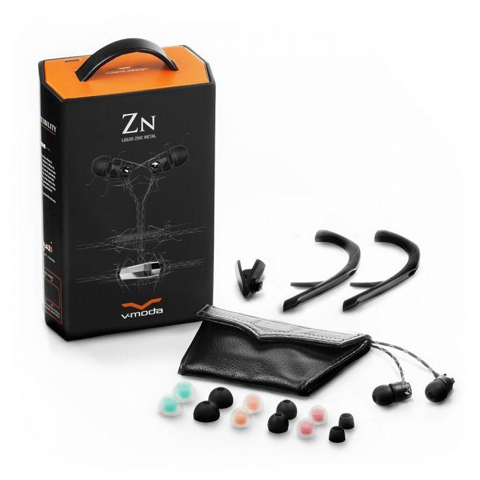 V-MODA Zn 3-Button In-Ear Headphones - Black Accessories