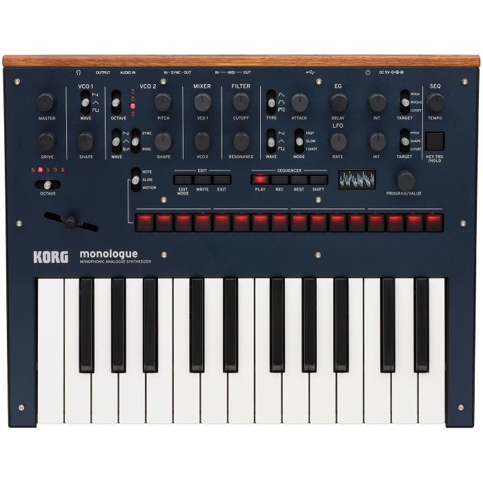 Korg Monologue Analogue Synthesizer in Blue