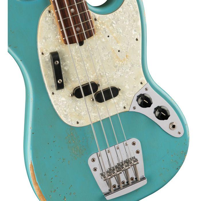 Fender Justin Meldal-Johnsen Road Worn Mustang Bass Body Detail