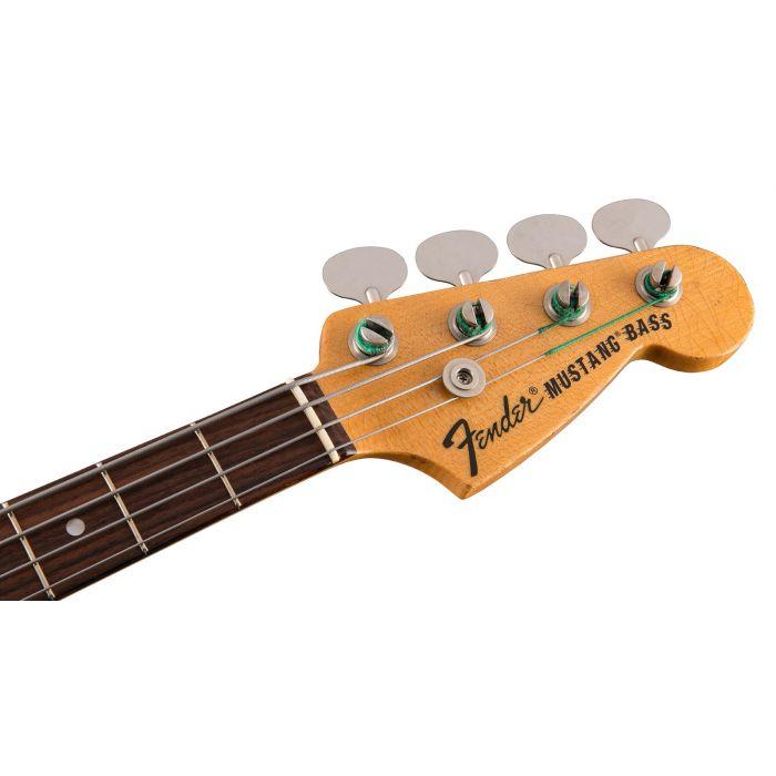 Fender Justin Meldal-Johnsen Road Worn Mustang Bass Headstock