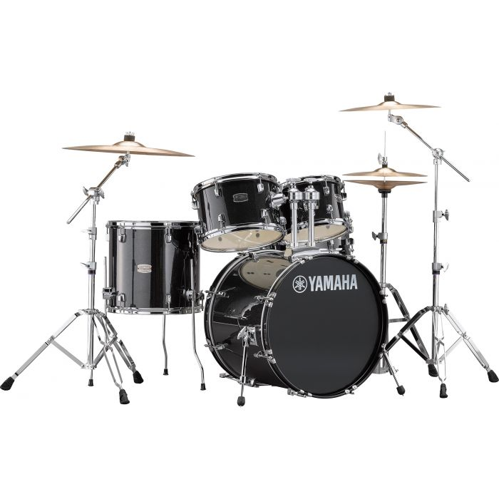 "Yamaha Rydeen 20"" Drum Kit with Hardware and Cymbals in Black Sparkle"
