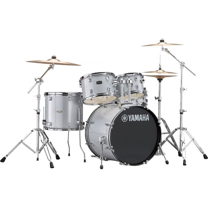 """Yamaha Rydeen 20"""" Drum Kit with Hardware and Cymbals in Silver Sparkle"""