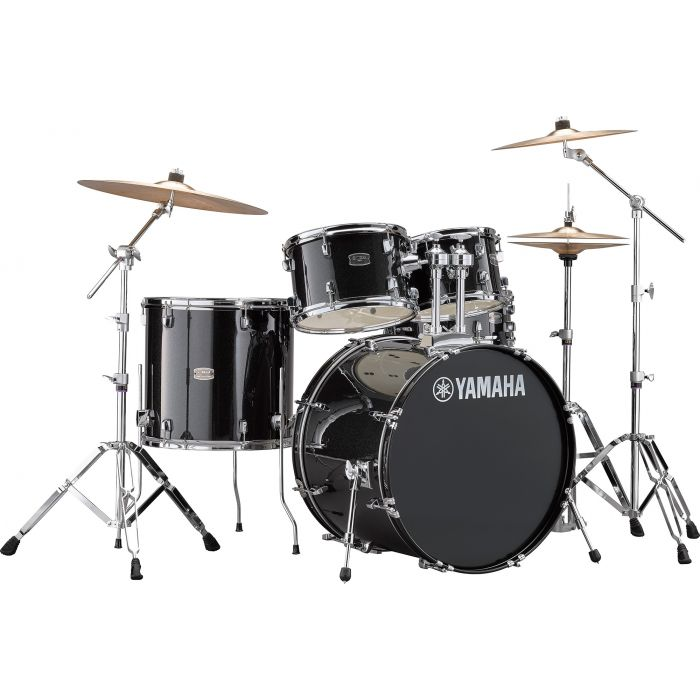 """Yamaha Rydeen 22"""" Drum Kit with Hardware and Cymbals in Black Sparkle"""