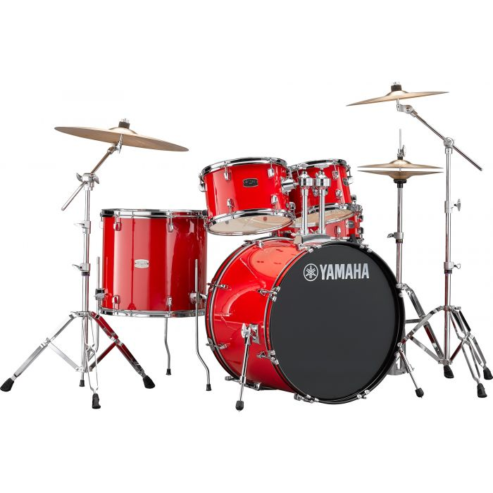 """Yamaha Rydeen 22"""" Drum Kit with Hardware and Cymbals in Hot Red"""