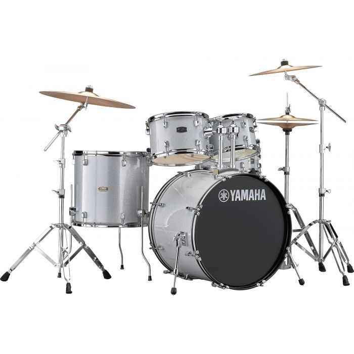 "Yamaha Rydeen 22"" Drum Kit with Hardware and Cymbals in Silver Sparkle"