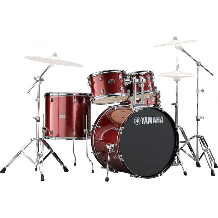 Yamaha Rydeen 22 Inch Drum Shell Kit With Hardware in Burgundy Sparkle