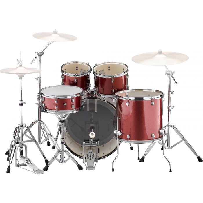 Yamaha Rydeen 22 Inch Drum Shell Kit With Hardware in Burgundy Sparkle Back