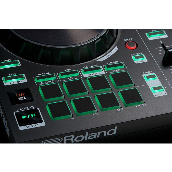 Roland DJ-202 DJ Controller Pads Closeup