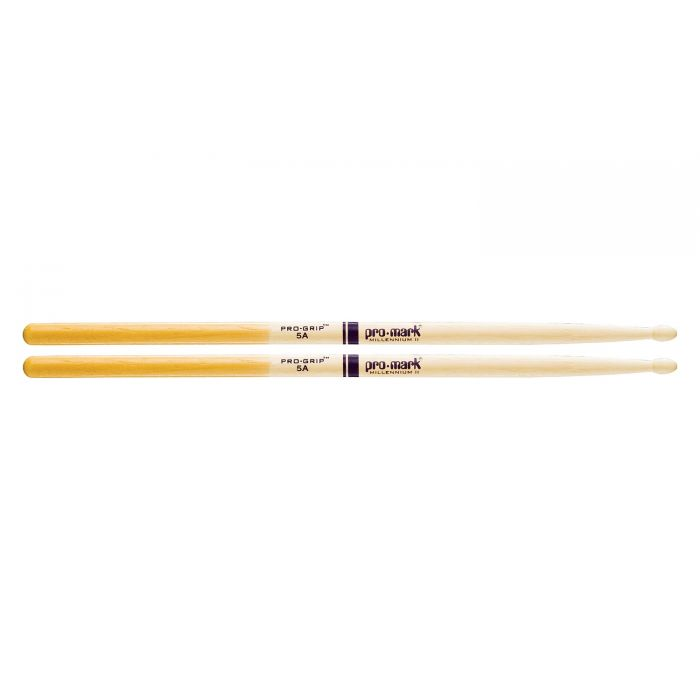 """Promark Hickory 5A """"Pro-Grip"""" Wood Tip Drumstick Pair"""