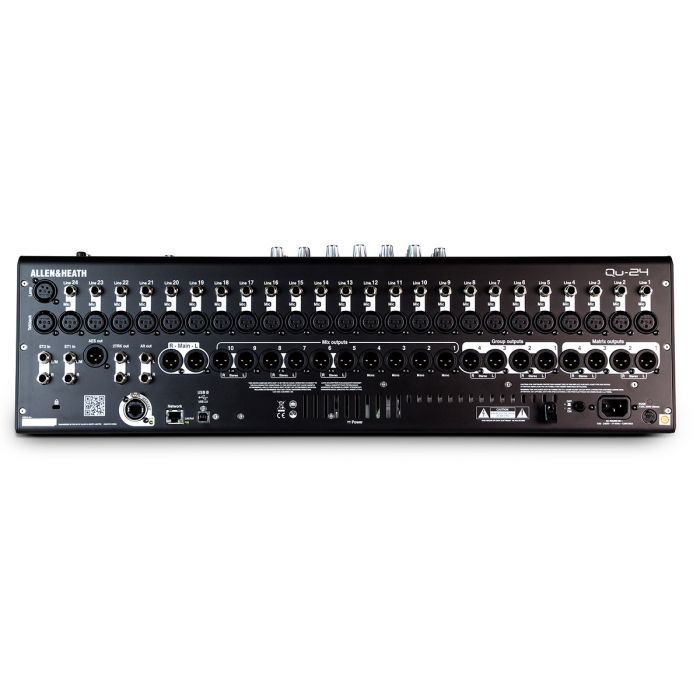 Allen Heath QU24 Digital Mixing Desk Chrome Rear