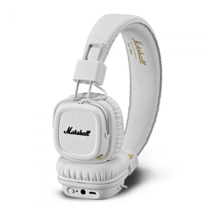 Marshall Major II Bluetooth Wireless Headphones White On Side