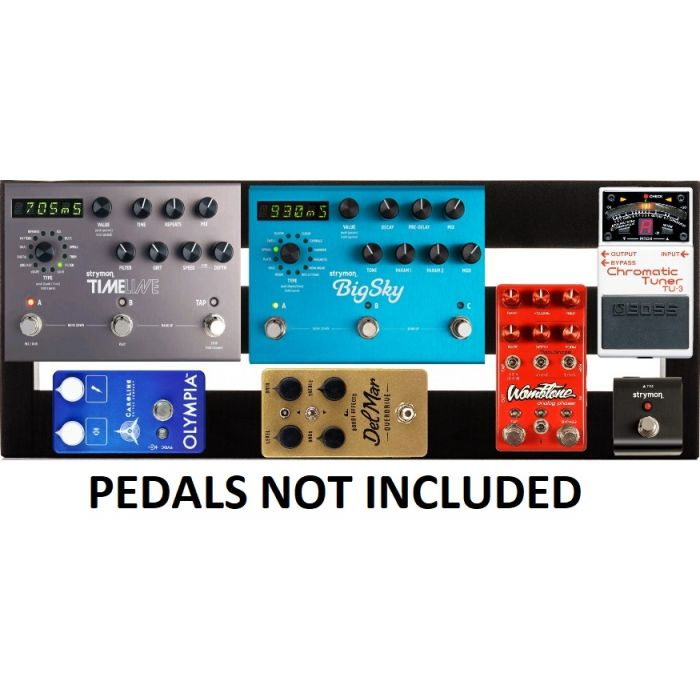 Pedaltrain Metro 24 Pedalboard with Hard Case - Shown with Pedals That Are Not Included