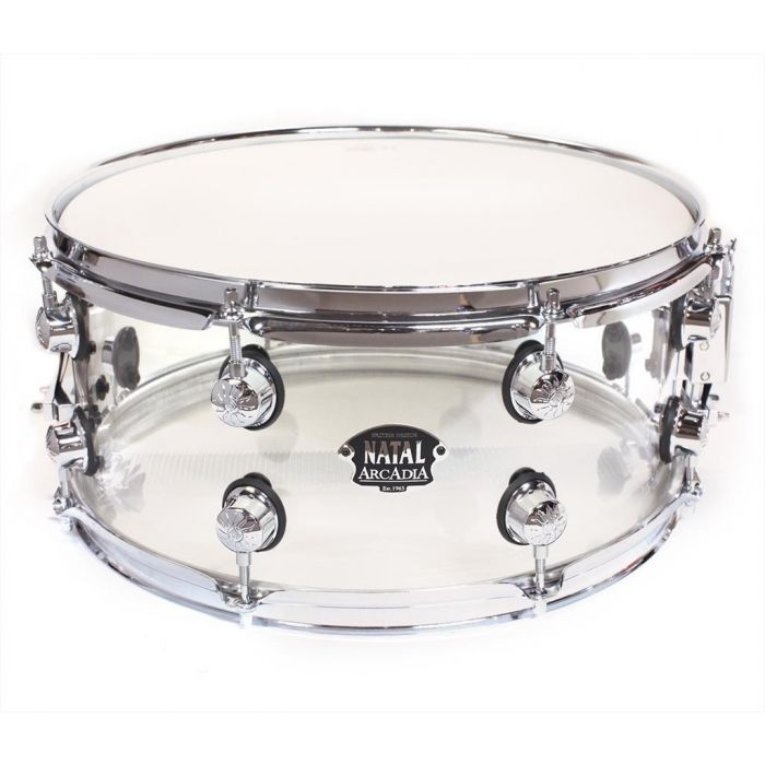 Natal 14x6.5in Acrylic Snare Drum Transparent Clear