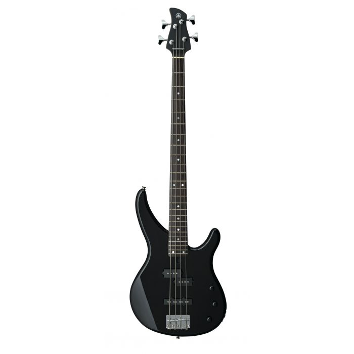 Overview of the Yamaha TRBX174BL Bass Guitar in Black