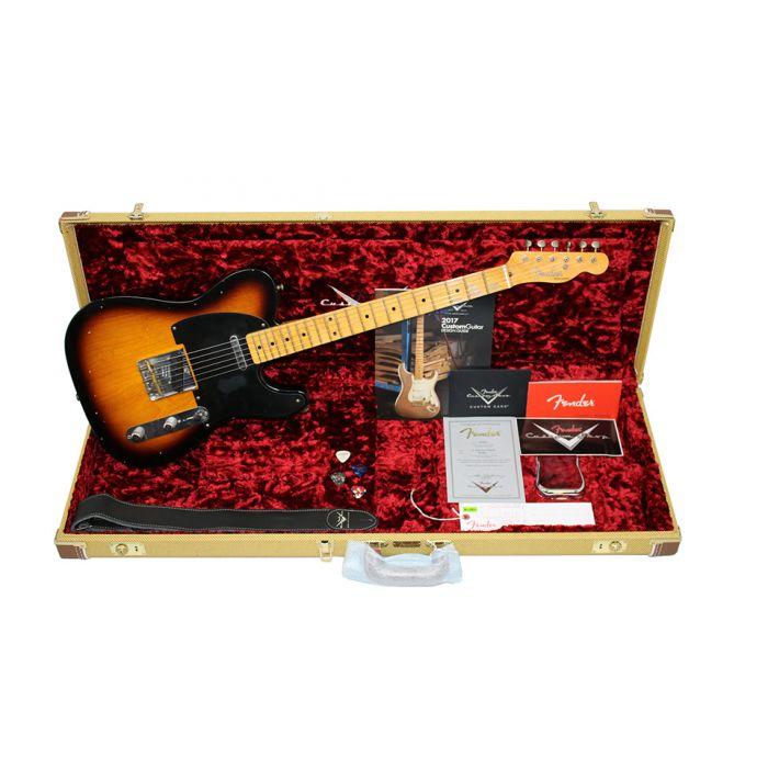 Fender Custom Shop 52 Tele Aged Sunburst Case Candy