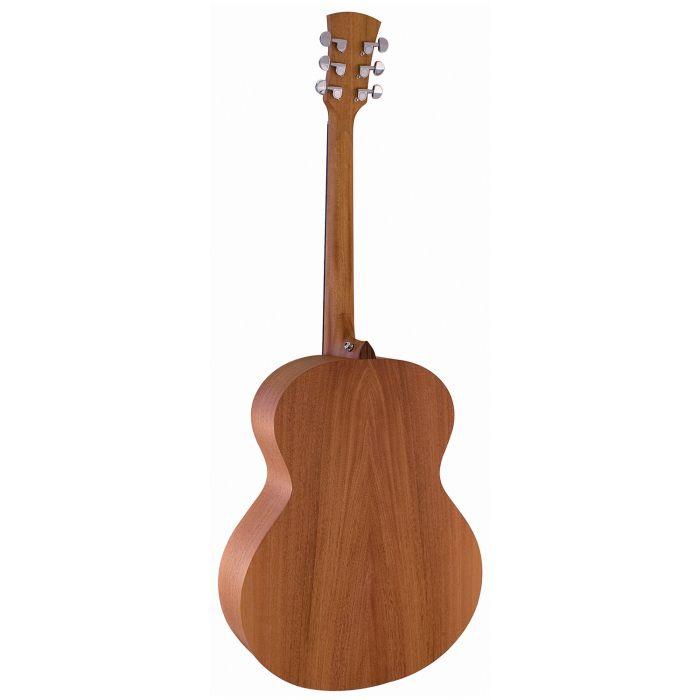 Faith FKN Naked Neptune Acoustic Guitar Rear Mahogany