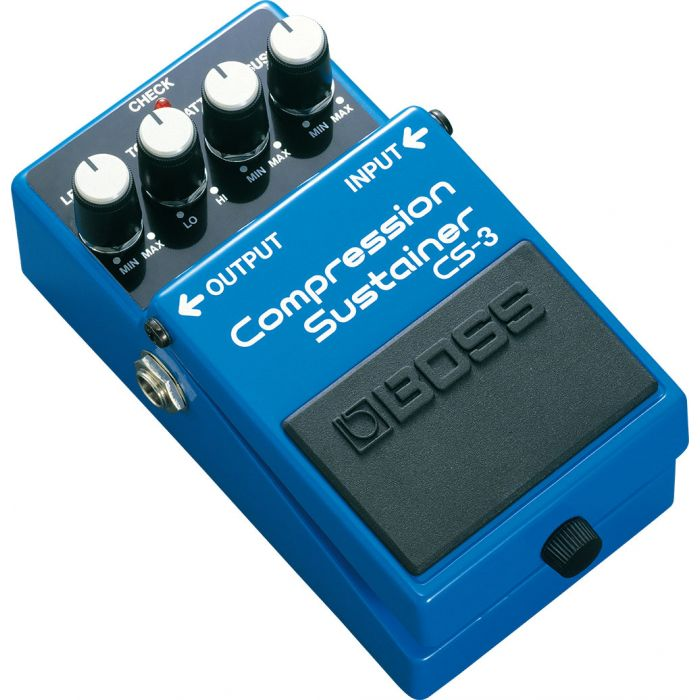 Boss CS-3 Compression Sustainer Pedal Angle