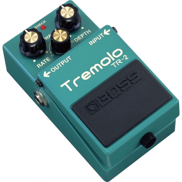 Boss TR-2 Tremolo Guitar Effects Pedal Angle