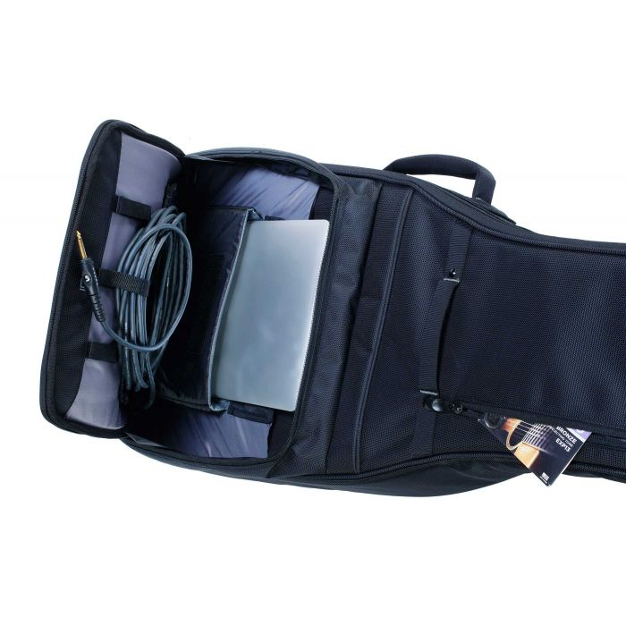 Schecter Pro EX Guitar Bag for Electric Guitar Compartments in Use with Cable Management System