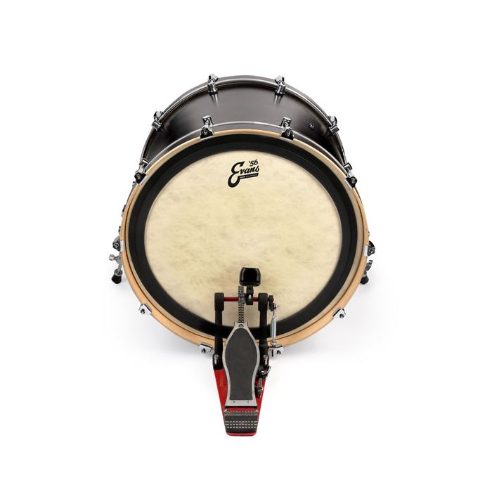 Evans EMAD '56 Calftone Bass Drum Head 22 Inch On Drum