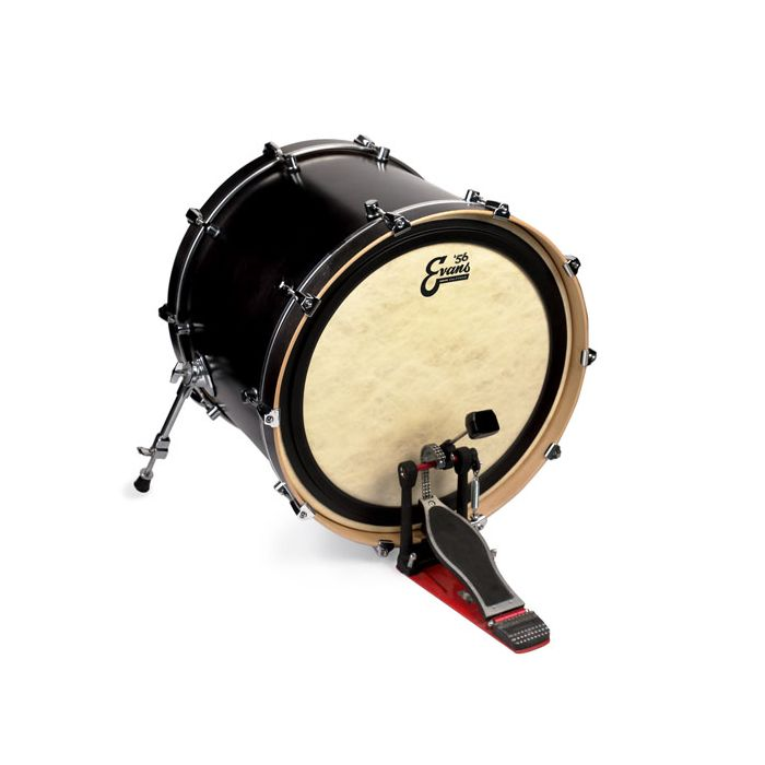 Evans EMAD '56 Calftone Bass Drum Head 22 Inch On Drum At Angle