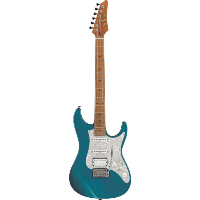 Ibanez AZ2204F-TAB AZ with Roasted Maple Neck in Trans Aqua Blue