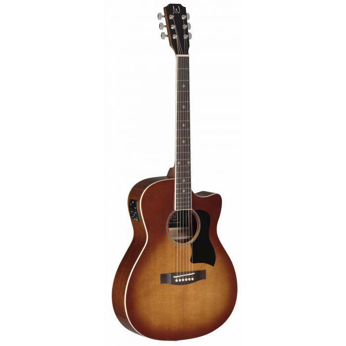 JN Guitars Bessie Electro-Acoustic Guitar Dark Cherry Burst